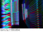 Купить «Дискотечные огни - световая и цветовая абстракция. Вспышки в темноте.», фото № 159854, снято 4 февраля 2006 г. (c) Harry / Фотобанк Лори
