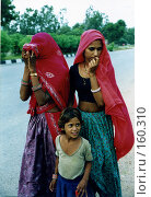 Купить «Индийские девушки из деревни Кукас», эксклюзивное фото № 160310, снято 19 сентября 2018 г. (c) Free Wind / Фотобанк Лори