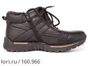Купить «Мужские черные зимние ботинки», фото № 160966, снято 26 ноября 2006 г. (c) Александр Паррус / Фотобанк Лори