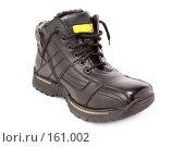 Купить «Мужские черные зимние ботинки», фото № 161002, снято 26 ноября 2006 г. (c) Александр Паррус / Фотобанк Лори