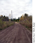 Купить «Проселочная дорога», фото № 161522, снято 30 сентября 2007 г. (c) Бяков Вячеслав / Фотобанк Лори