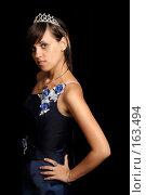 Купить «Девушка с диадемой, на черном фоне», фото № 163494, снято 26 июля 2007 г. (c) Александр Паррус / Фотобанк Лори