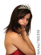 Купить «Девушка с диадемой, на белом фоне», фото № 163510, снято 26 июля 2007 г. (c) Александр Паррус / Фотобанк Лори