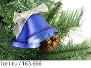 Купить «Рождественские колокольчики крупно», фото № 163666, снято 18 сентября 2018 г. (c) Роман Сигаев / Фотобанк Лори