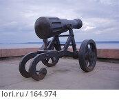 Купить «Старинная пушка на набережной Онежского озера в Петрозаводске», фото № 164974, снято 25 августа 2007 г. (c) Чертопруд Сергей / Фотобанк Лори