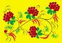 """Традиционный """"Травно-ягодный"""" орнамент народного промысла Хохлома, иллюстрация № 166134 (c) Олеся Сарычева / Фотобанк Лори"""
