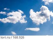 Купить «Белые облака в голубом небе», фото № 168926, снято 19 июня 2007 г. (c) chaoss / Фотобанк Лори