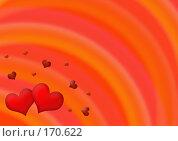 Купить «Абстрактный красный фон с сердцами», иллюстрация № 170622 (c) Лукиянова Наталья / Фотобанк Лори