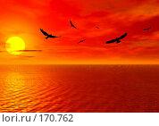 Купить «Закат», иллюстрация № 170762 (c) ElenArt / Фотобанк Лори