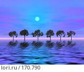 Купить «Вечер, деревья», иллюстрация № 170790 (c) ElenArt / Фотобанк Лори