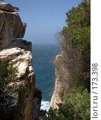 Купить «Линия прибоя в прибрежных скалах», фото № 173398, снято 8 октября 2006 г. (c) Вячеслав Потапов / Фотобанк Лори