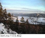 Купить «Южный Урал, вид на поселок Узян», фото № 173402, снято 5 января 2008 г. (c) Илья Клыков / Фотобанк Лори