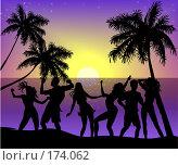 Танцы на берегу. Стоковая иллюстрация, иллюстратор Цепков Андрей / Фотобанк Лори