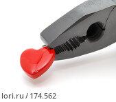 Купить «Сердечко в черных пассатижах», фото № 174562, снято 12 января 2008 г. (c) Валерий Александрович / Фотобанк Лори