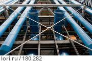 Купить «Вентиляция Центра Помпиду в Париже», фото № 180282, снято 18 июня 2007 г. (c) Юрий Синицын / Фотобанк Лори