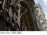 Купить «Готика архитектуры собора Парижской Богоматери», фото № 180286, снято 18 июня 2007 г. (c) Юрий Синицын / Фотобанк Лори