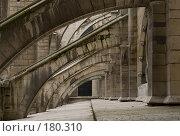 Купить «Архитектура собора Парижской Богоматери», фото № 180310, снято 18 июня 2007 г. (c) Юрий Синицын / Фотобанк Лори