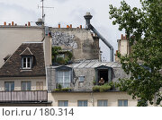 Купить «Парижские окна», фото № 180314, снято 18 июня 2007 г. (c) Юрий Синицын / Фотобанк Лори