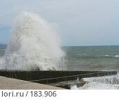 Купить «Черное море.Шторм.Волны у побережья.», фото № 183906, снято 7 июня 2007 г. (c) Наталья Ярошенко / Фотобанк Лори