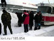 Купить «Снегопад в Самаре», фото № 185854, снято 25 января 2008 г. (c) Светлана Кириллова / Фотобанк Лори