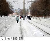 Купить «Снегопад в Самаре. Трамваи не ходят», фото № 185858, снято 25 января 2008 г. (c) Светлана Кириллова / Фотобанк Лори