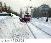 Купить «Снегопад в Самаре», фото № 185862, снято 25 января 2008 г. (c) Светлана Кириллова / Фотобанк Лори