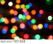 Фон с цветными огоньками. Стоковое фото, фотограф Евгений Р / Фотобанк Лори