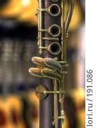 Купить «Кларнет в желтом свете», фото № 191086, снято 30 января 2008 г. (c) Андрей Соколов / Фотобанк Лори