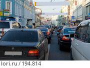 Купить «Плотный поток транспорта в городе днем», фото № 194814, снято 25 сентября 2007 г. (c) Юрий Синицын / Фотобанк Лори