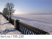 Купить «Зимняя Самарская набережная», фото № 195230, снято 10 января 2008 г. (c) Николай Федорин / Фотобанк Лори