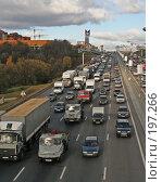 Купить «Пробка на МКАД», фото № 197266, снято 19 октября 2005 г. (c) Андрей Ерофеев / Фотобанк Лори