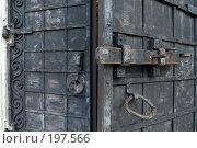 Купить «Засов двери Никольского собора в Волоколамске», фото № 197566, снято 26 августа 2007 г. (c) Юрий Синицын / Фотобанк Лори
