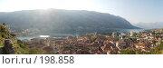Купить «Черногория. Панорама исторической части города Котор и которского залива в солнечную погоду», фото № 198858, снято 15 августа 2018 г. (c) Павел Гаврилов / Фотобанк Лори