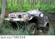 Купить «Внедорожник в трофи-рейде (о.Сахалин)», фото № 199514, снято 30 мая 2020 г. (c) RedTC / Фотобанк Лори
