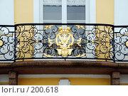 Купить «Решетка балкона Большого дворца», эксклюзивное фото № 200618, снято 27 января 2008 г. (c) Александр Щепин / Фотобанк Лори
