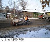 Купить «На велосипеде», фото № 200706, снято 12 февраля 2008 г. (c) Светлана Кириллова / Фотобанк Лори