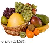 Купить «Натюрморт с фруктами изолированный на белом фоне», фото № 201586, снято 10 февраля 2008 г. (c) Мельников Дмитрий / Фотобанк Лори