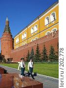 Купить «Москва. Кремль. Смена почетного караула», фото № 202778, снято 8 августа 2007 г. (c) Николай Федорин / Фотобанк Лори