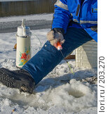 Купить «Зимняя рыбалка», фото № 203270, снято 16 февраля 2008 г. (c) Werin / Фотобанк Лори