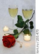 Купить «Вино и роза», фото № 203470, снято 15 февраля 2008 г. (c) Лидия Рыженко / Фотобанк Лори