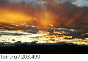 Купить «Камчатский закат», фото № 203490, снято 4 октября 2006 г. (c) Ирина Игумнова / Фотобанк Лори