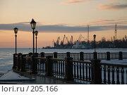 Купить «Зимний вид на морской порт с набережной в Таганроге», фото № 205166, снято 16 февраля 2008 г. (c) Игорь Струков / Фотобанк Лори