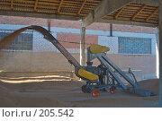 Купить «Зернопогрузчик на току. Сушка зерна.», фото № 205542, снято 6 сентября 2004 г. (c) Иван Сазыкин / Фотобанк Лори