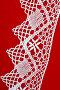 Старинное кружево.Ручная работа.Белое на красном фоне, фото № 206462, снято 22 октября 2016 г. (c) Мирослава Безман / Фотобанк Лори