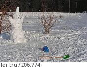 Купить «Снеговик», эксклюзивное фото № 206774, снято 3 февраля 2008 г. (c) lana1501 / Фотобанк Лори