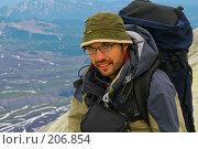 Купить «Турист. Камчатка.», фото № 206854, снято 5 августа 2007 г. (c) Николай Коржов / Фотобанк Лори