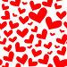Бесшовная текстура из сердец, иллюстрация № 207506 (c) Валерия Потапова / Фотобанк Лори
