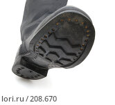 Купить «Подошва кирзового сапога», фото № 208670, снято 24 февраля 2008 г. (c) Валерий Александрович / Фотобанк Лори
