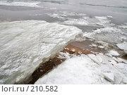 Купить «Река Нева, льдины на берегу», фото № 210582, снято 7 февраля 2008 г. (c) Parmenov Pavel / Фотобанк Лори