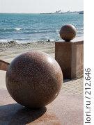 Купить «Гранитные шары докатились до моря», фото № 212646, снято 28 февраля 2008 г. (c) Федор Королевский / Фотобанк Лори